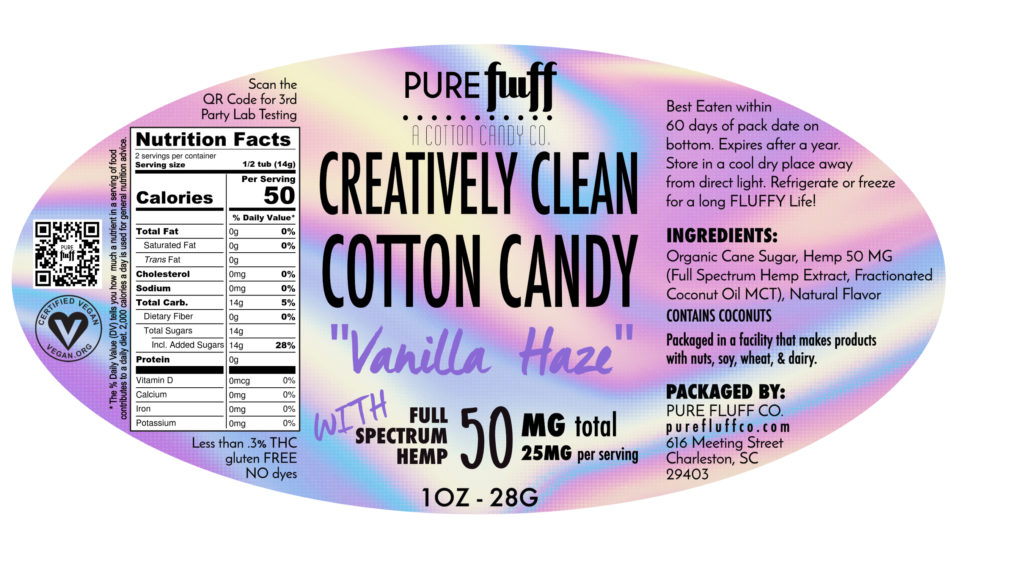 VANILLA HAZE + 50MG Hemp - Pure Fluff Co